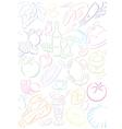 background transparent food symbols vector image