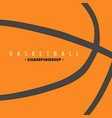 basketball ball background vector image vector image