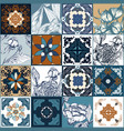 beautiful traditional decorative color tiles vector image