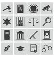 black justice icons set