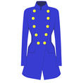 Blue coat vector image vector image