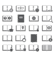 Books and Symbols Icons Set vector image vector image