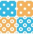 Burst pattern set colored vector image vector image