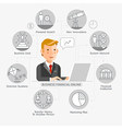 Business Financial Online Conceptual Flat Style vector image vector image