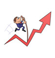 businessman jumping with the pole vault vector image vector image