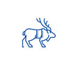 christmas reindeer line icon concept christmas vector image vector image