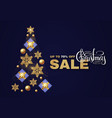christmas tree sale design template vector image vector image