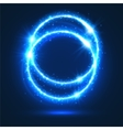 Circles of neon light flashes and sparkles vector image vector image
