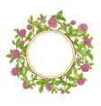 clover branch frame vector image vector image
