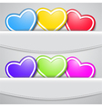 Colored valentine hearts vector image vector image