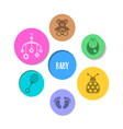 Colorful design with baby icons vector image