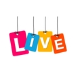colorful hanging cardboard Tags - live vector image vector image