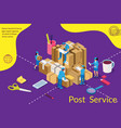 delivery and post service concept isometric post vector image vector image