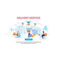 delivery service horizontal banner with copy space vector image vector image