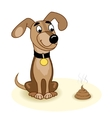 Dog and turd vector image