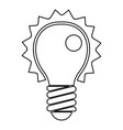electric bulb icon outline vector image vector image