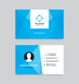 elegant clean blue business card design vector image vector image