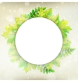 Fresh green leaves border EPS 10 vector image