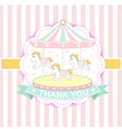 fun fair carnival carousel vector image
