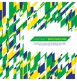 geometric background in Brazil concept vector image