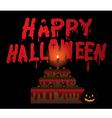 Halloween Pumpkin and Cake Halloween vector image