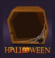 halloween wooden frame avatar blank template vector image vector image