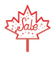 happy canada day hand drawn typography design vector image vector image