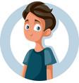 happy cute teen boy smiling cartoon vector image