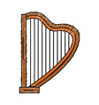 Harp musical instrument icon