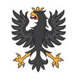 heraldic black eagle with crown vector image