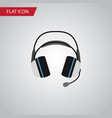 isolated headphone flat icon earphone vector image vector image