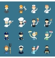 Large set of funny professional people avatars vector image vector image