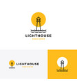 lighthouse logo icon line outline monoline vector image vector image
