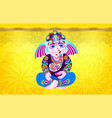 lord ganesha on yellow luxury background vector image vector image
