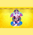 lord ganesha on yellow luxury background vector image vector image