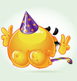lost shame smile birthday naked in a festive hat vector image vector image