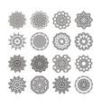 mandala set round ornament vector image vector image
