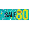 Modern Banner Super Sale Up to 80 Percent vector image vector image