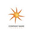 modern sun logo vector image vector image