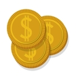 money coins icon vector image vector image