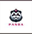 panda head gaming logo design vector image vector image