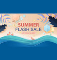 paper art and craft style of top view summer sale vector image