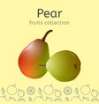 pear image vector image vector image