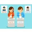 people vote for candidates different parties vector image