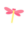 pink dragonfly cartoon vector image