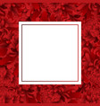 red chrysanthemum flower banner card vector image