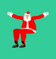 santa claus sitting isolated template christmas vector image vector image