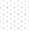 Seamless baby pattern Nipple vector image