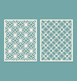 set of die cut card laser cutting panels cutout vector image vector image