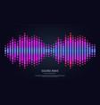 sound wave equalizer music digital waveform vector image vector image